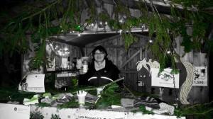 Silvia im Hüttchen