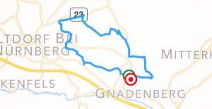 Die Streckenführung von Hagenhausen nach Altdorf und über Gnadenberg zurück.